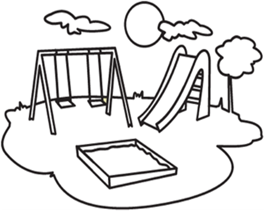 how to draw a simple water park